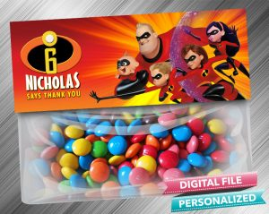 The Incredibles Favor Bag Toppers