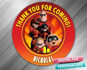 The Incredibles Favor Tag