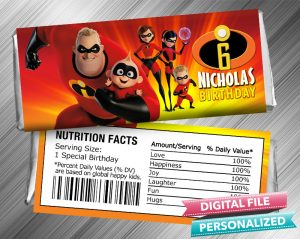 The Incredibles Hershey Wrapper