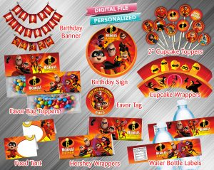 The Incredibles Printable Birthday Package