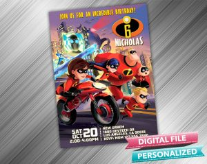 The Incredibles Birthday Invitation
