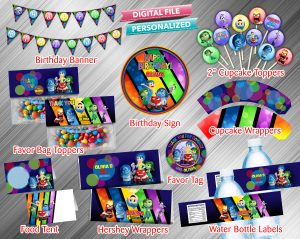 Inside Out Printable Birthday Package