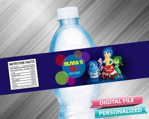 Inside Out Water Bottle Label