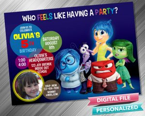 Inside Out Invitation with picture