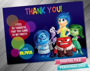 Inside Out Thank you Card