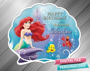 The Little Mermaid Birthday Sign