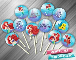 The Little Mermaid Cupcake Toppers