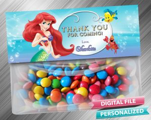 The Little Mermaid Treat Bag Toppers