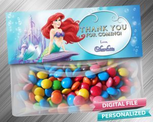 The Little Mermaid Favor Bag Toppers