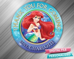 The Little Mermaid Favor Tag