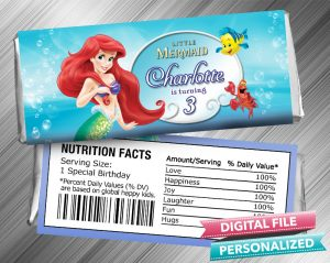 The Little Mermaid Hershey Candy Bar Wrapper