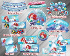 The Little Mermaid Printable Birthday Package