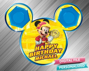 Mickey and the Roadster Racers Birthday Sign