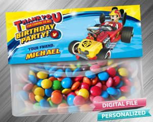 Mickey and the Roadster Racers Treat Bag Toppers