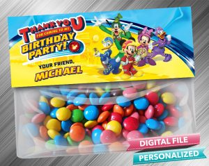 Mickey and the Roadster Racers Favor Bag Toppers
