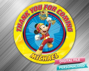Mickey and the Roadster Racers Favor Tag