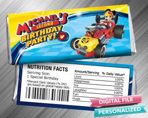 Mickey and the Roadster Racers Hershey Wrapper