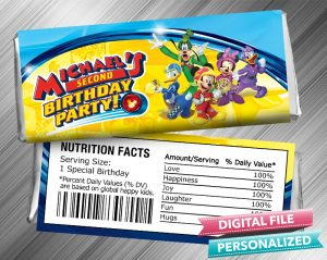 Mickey and the Roadster Racers Hershey Candy Bar Wrapper