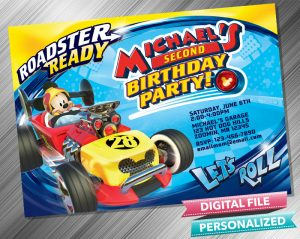 Mickey and the Roadster Racers Invitation