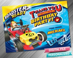 Mickey and the Roadster Racers Thank you Card