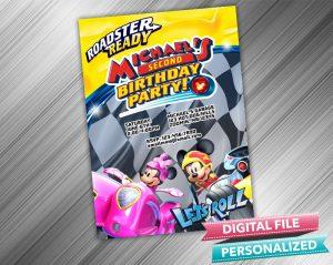 Mickey and Minnie Racers Invitation