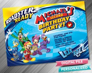 Mickey and the Roadster Racers Birthday Invitation