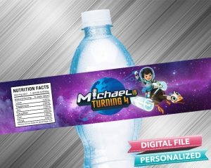 Miles From Tomorrowland Water Bottle Label