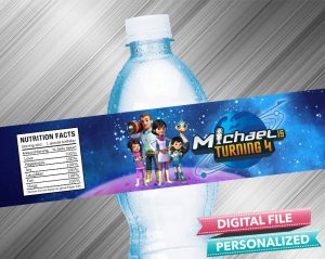 Miles From Tomorrowland Birthday Water Bottle Label