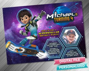 Miles From Tomorrowland Invitation with picture