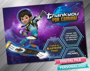 Miles From Tomorrowland Thank you Card