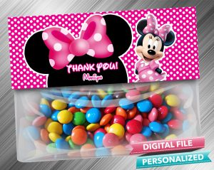 Minnie Favor Bag Toppers