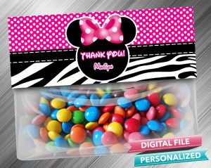 Minnie Treat Bag Toppers