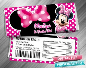 Minnie Hershey Candy Bar Wrapper