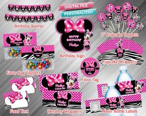 Minnie Printable Birthday Package