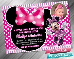 Minnie Invitation with picture