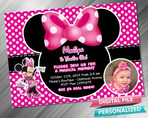 Minnie Mouse Invitation with picture