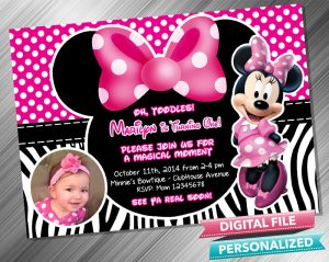 Minnie Birthday Invitation with picture