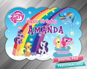 My Little Pony Birthday Sign