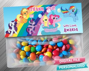 My Little Pony Favor Bag Toppers