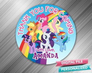 My Little Pony Favor Tag