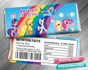 My Little Pony Hershey Candy Bar Wrapper