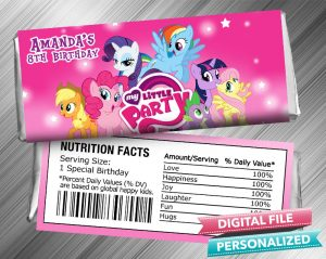 My Little Pony Hershey Wrapper