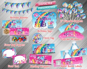 My Little Pony Printable Birthday Package