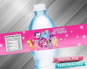 My Little Pony Water Bottle Label