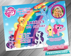My Little Pony Invitation with picture