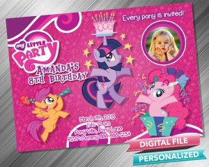 My Little Pony Birthday Invitation with picture