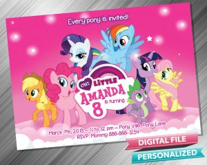 My Little Pony Birthday Party Invitation