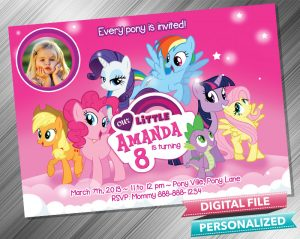 My Little Pony Birthday Party Invitation with picture