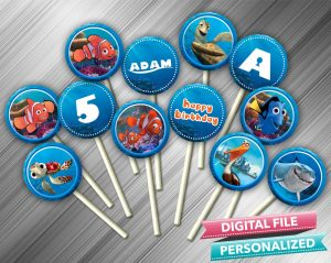 Finding Nemo Cupcake Toppers