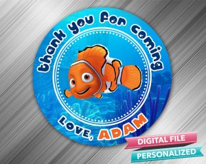 Finding Nemo Favor Tag